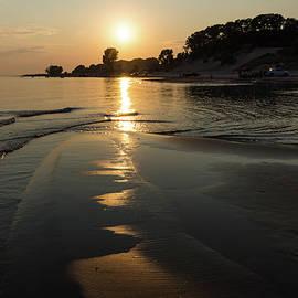 Georgia Mizuleva - A Golden Path to Summer Fun - Lake Erie Beach Sunset