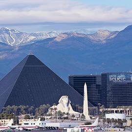 A Luxor View from McCarran International Airport, Las Vegas, Nevada, USA by Derrick Neill