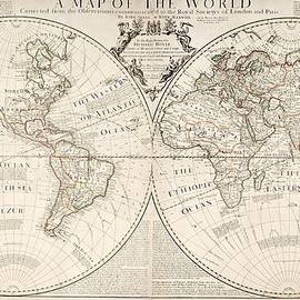 A Map of the World by John Senex
