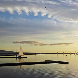 A Marine Lake at Dusk, West Kirby by Derrick Neill