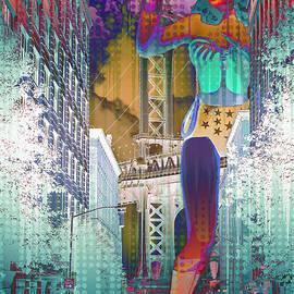 Aurelio Zucco - A Mega Wonder Woman Scorned Abstract