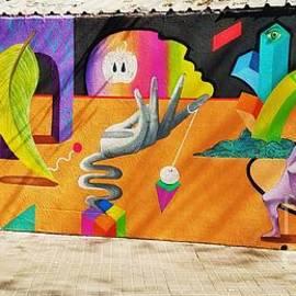 A Mural In Barcelona by Poet's Eye
