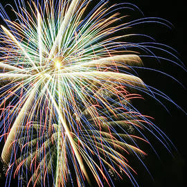 A Night Sky Full of Exploding Fireworks by Derrick Neill
