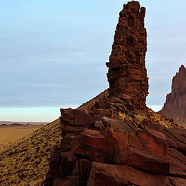Derrick Neill - A Pair of Volcanic Dikes Radiating Out from Shiprock