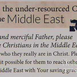 Reid Callaway - A Prayer For the Middle East Prayer Art