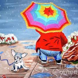 Phyllis Kaltenbach - A Rainy Scene in Switzerland