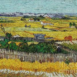Pemaro - A replica of a painting Harvest by  Van Gogh
