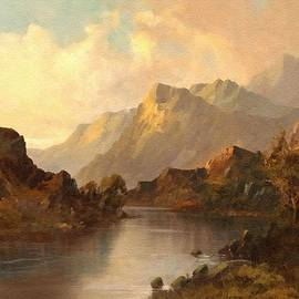 A Scottish Lakescape With Mountains In The Background L A S by Gert J Rheeders