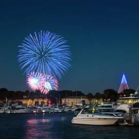 A Seaworld Fireworks Shot, Dana Landing, San Diego by Derrick Neill