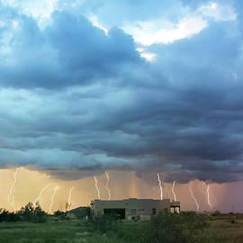 A Shower of Lightning Over a Neighborhood by Derrick Neill