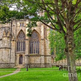 A Stroll Through The Grounds of York Minster by Joan-Violet Stretch
