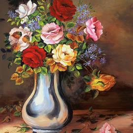 A Vase full of Roses by Dominica Alcantara