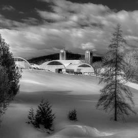 Joann Vitali - A Vermont Farm in Winter - Black And White