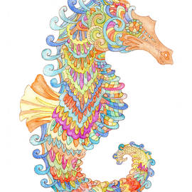 A very colourful seahorse by Eva Brejlova