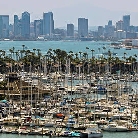 A View of Shelter Island and Downtown San Diego from Point Loma by Derrick Neill