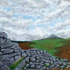 A View to Leather Tor by Philip Harvey