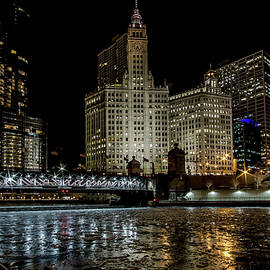 Sven Brogren - A wintry Chicago River Scene