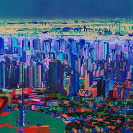 A World Away - Shanghai NIght by Christine Segalas