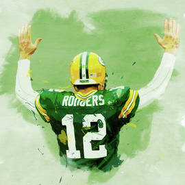 Dan Sproul - Aaron Rodgers Watercolor