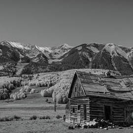 Abandoned Cabin Near Crested Butte Bw by Michael Ver Sprill
