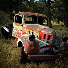 Abandoned Dodge Truck Watercolor  by Frank Wilson