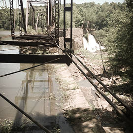 Abandoned Railroad Trestle Bridge Study In Perspective II by Kelly Hazel
