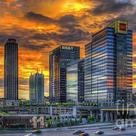 Reid Callaway - Ablaze Reflections Atlanta Midtown Sunset Art