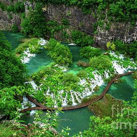 Above The Paths And Waterfalls At Plitvice Lakes National Park, Croatia by Global Light Photography - Nicole Leffer