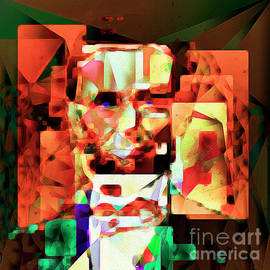 Wingsdomain Art and Photography - Abraham Lincoln in Abstract Cubism 20170327 square