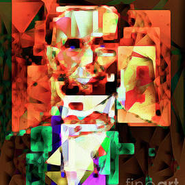 Wingsdomain Art and Photography - Abraham Lincoln in Abstract Cubism 20170327