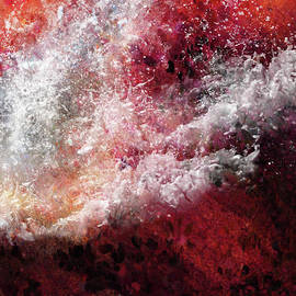 Abstract Artwork Fury Of The Red Seas by Isabella Howard
