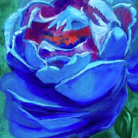 Jenny Lee - Abstract Blue Rose
