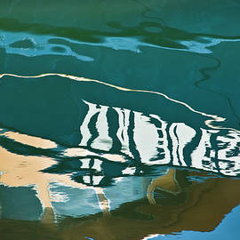 Abstract Boat Reflection by Dave Gordon