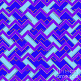 Pablo Franchi - Abstract cyan, purple and blue pattern for home decoration