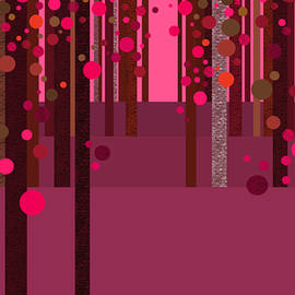 Abstract Dreamscape - Hot Pink by Val Arie