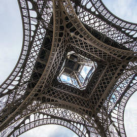 Mike Reid - Abstract Eiffel Tower Looking Up 2