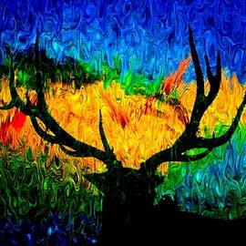 Abstract Elk Scenic View by Mike Breau