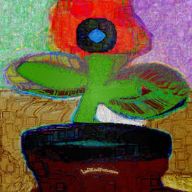 Miss Pet Sitter - Abstract Floral Art 110