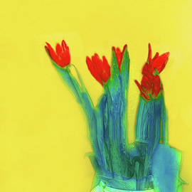 Abstract Floral Art 345 by Miss Pet Sitter