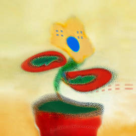 Miss Pet Sitter - Abstract Floral Art 86