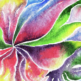 Irina Sztukowski - Abstract Flower Lily And Orchid Watercolor