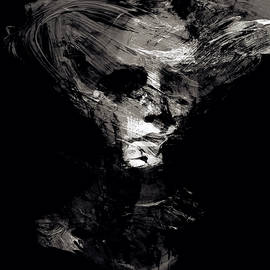 Abstract Ghost Black and White by Marian Voicu
