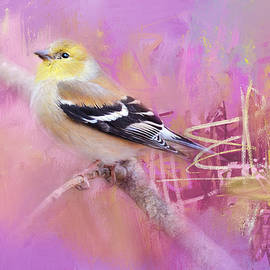 Abstract Goldfinch by Jai Johnson