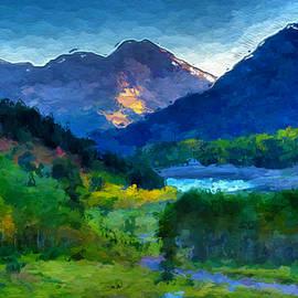 Anthony Fishburne - Abstract Mountain Vista