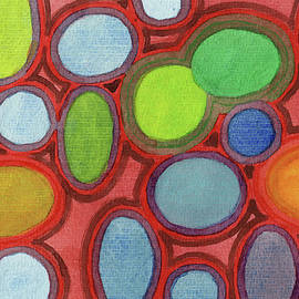 Abstract Moving Round Shapes Pattern