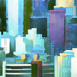 Abstract-New York Impressions   by Regina Geoghan