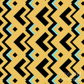 Pablo Franchi - Abstract orange, dark gray and cyan pattern for home decoration