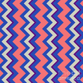 Pablo Franchi - Abstract orange, pink and blue pattern for home decoration