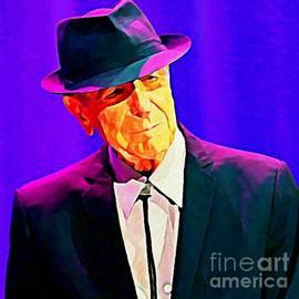 John Malone - Abstract Portrait of Leonard Cohen