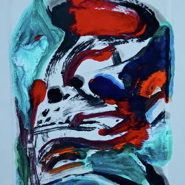 Bonnie See - Abstract - Red and Blue